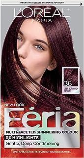 رنگ مو دائمی و براق کننده چند منظوره L'Oréal Paris Feria ، 36 گیلاس شکلاتی (قهوه ای کبود قهوه ای) ، 1 کیت رنگ مو