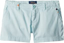 Polo Ralph Lauren Kids Embroidered Chino Shorts (Little Kids)