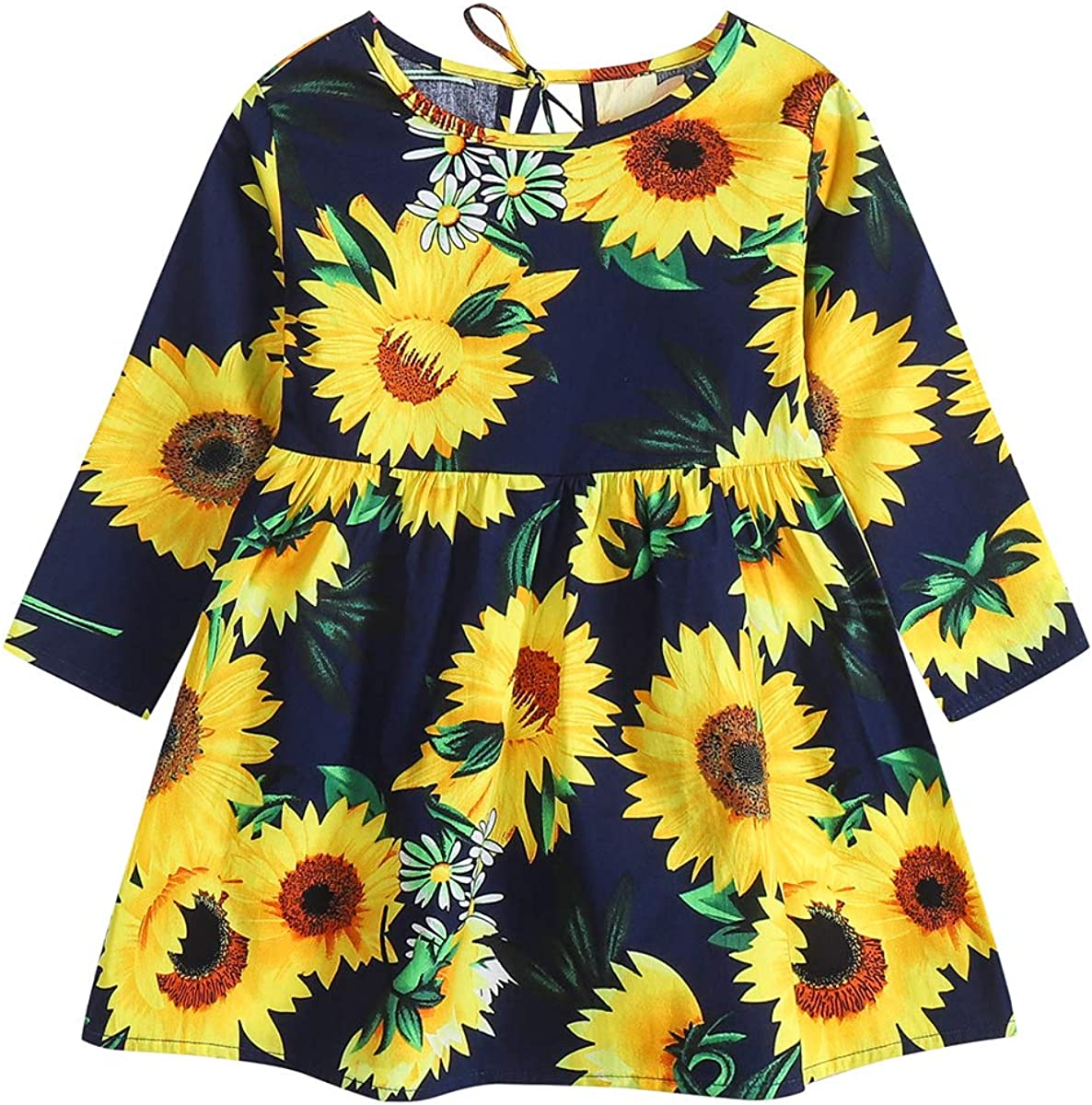 Toddler Girls Ranking TOP20 Summer Dress Long Sleeve Floral Print Dresses Kids Selling and selling