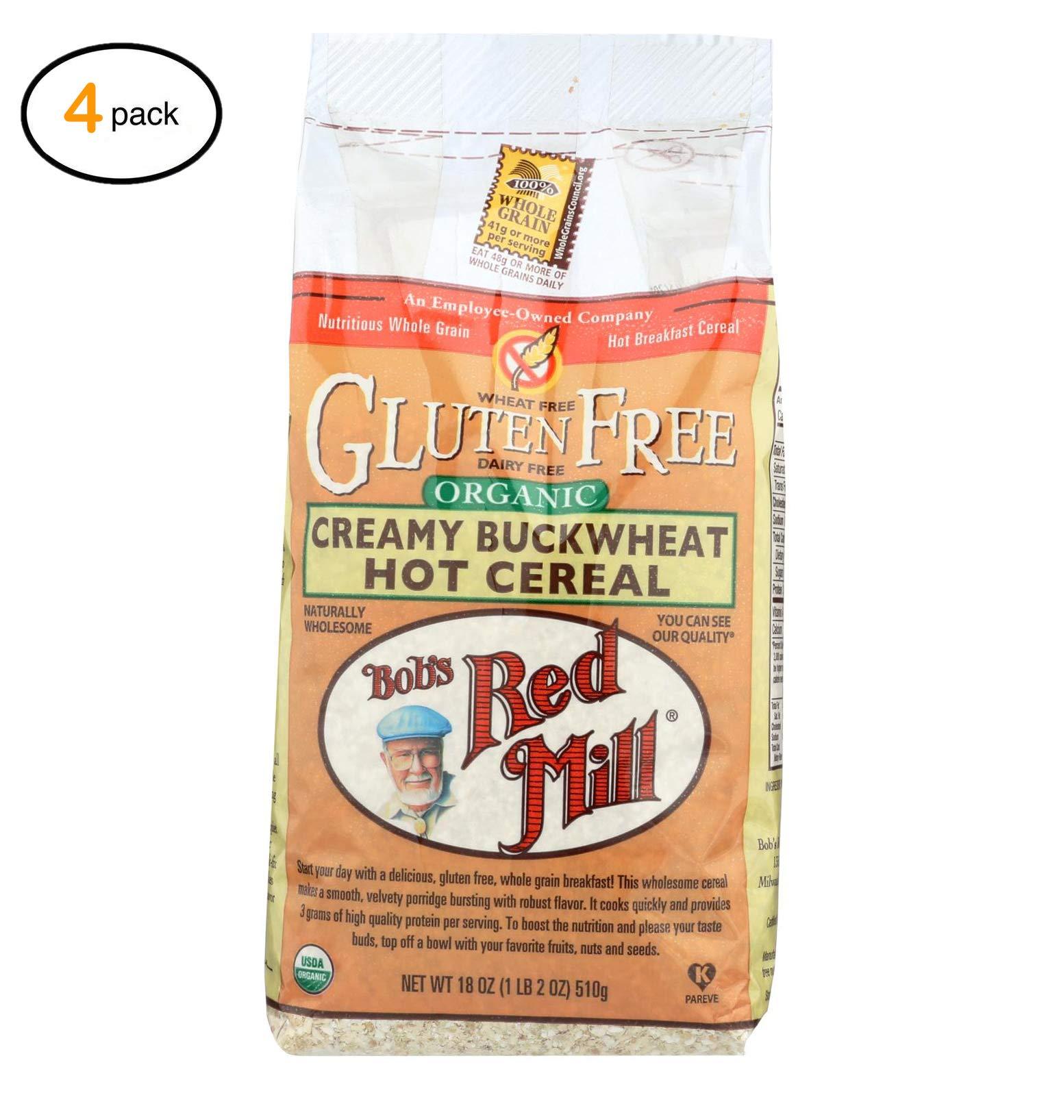 Bоb's Rеd Mill оrganic Glutеn Frее Crеamy Buckwhеat Hоt Cеrеal - 18 оz - Casе оf 4 - Bulk Buy