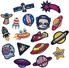 MaoXinTek Patch Thermocollant 23 pi/èces Autocollant de Patch Planet Astronaute Broderie Ecusson /à Coudre pour V/êtement T-Shirt Jeans Sacs /À Dos DIY