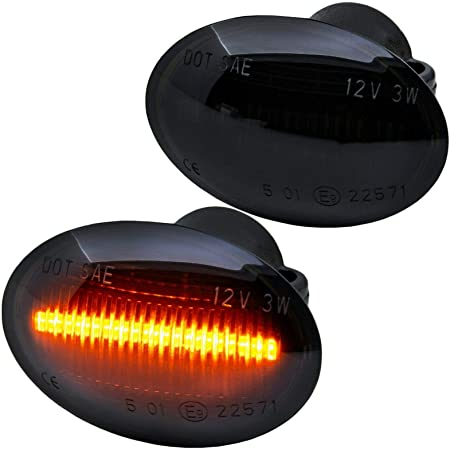 Blinker Dynamische LED Blinkerleuchten Seitenleuchten f/ür Vito Viano W639 Metris W447 W168 Citan W415 for Smart Fortwo City Coupe Cabrio Crossblade W450 Roadster W452