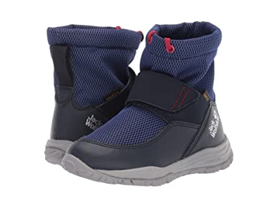 Jack Wolfskin Kids Kiwi Texapore Mid (Toddler/Little Kid/Big Kid) (Dark Blue/Red) Boys Shoes