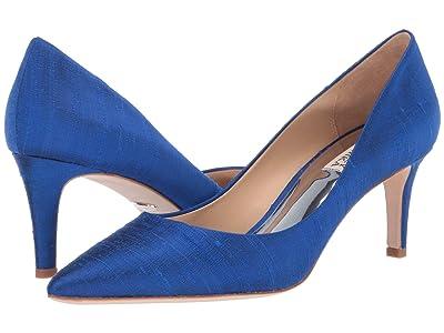 Badgley Mischka Lana (Navy Indian Silk) High Heels
