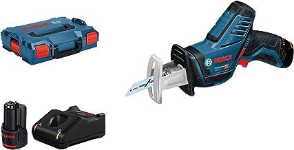 Bosch Professional GSA 12V-14 - Sierra sable a batería (2 baterías x 3.0 Ah, 12V, 0 - 3000 cpm, profundidad de corte 65 mm, en L-BOXX)
