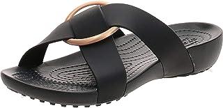 Crocs Women's Serena Cross-Band Slide Sandal | Comfortable Summer Sandals