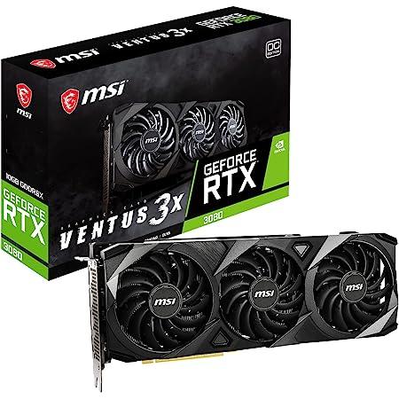 MSI GeForce RTX 3080 VENTUS 3X 10G OC LHR グラフィックスボード VD7736