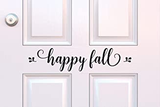 Happy Fall Decal Fall Porch Decor Happy Fall Vinyl Fall Decoration Entryway Vinyl Halloween Decor Seasonal Porch Decor