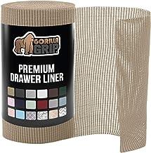 "Gorilla Grip Original Drawer Shelf Liner, Non-Adhesive, Size (12"" x 20'), Durable Strong Drawers, Shelves, Cabinets, Stora..."