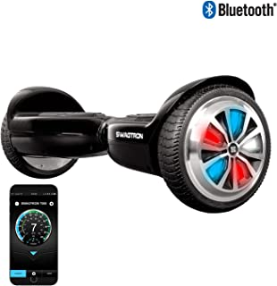 Swagtron T500 App-Enabled Bluetooth Hoverboard for Kids; LED Light-Up Wheels, Entry-Level Self-Balancing Scooter w/Optional Learning Mode, UL2272