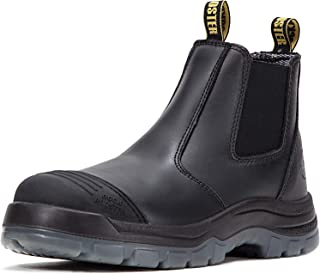 ROCKROOSTER Men's Work Boots Waterproof, Steel Toe, Antistatic, Water Resistant Leather Shoes, Width EEE-Wide(AK227, AK222)
