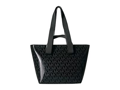 MICHAEL Michael Kors Kallie Medium Convertible Tote (Black) Handbags