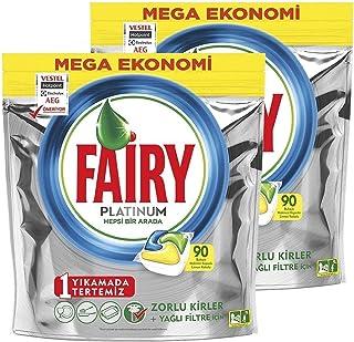Fairy Dishwasher Detergent Tablets Platinum, Lemon, 180 Tablets