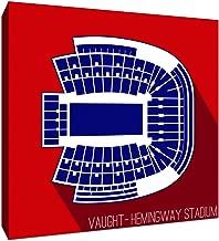 ArtsyCanvas Ole Miss Rebels - Vaught-Hemingway Stadium (20x20 Canvas),