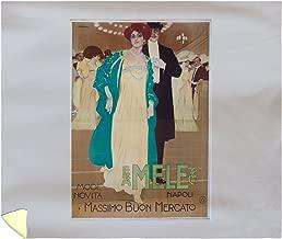 Mele - Massimo BUON Mercato Vintage Poster (Artist: Metlicovitz) Italy c. 1909 58179 (88x104 King Microfiber Duvet Cover)