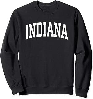 Indiana Crewneck Sweatshirt Sports College Style State Gifts