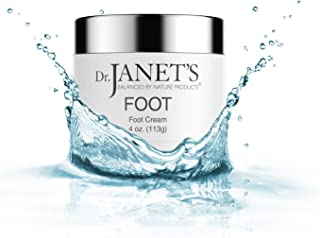 Dr. Janet's Balanced By Nature Products Foot Cream - With Organic Shea Butter and Peppermint Oil, Moisturizer For Callused Heels and Cracked, Dry Feet – 4 oz.