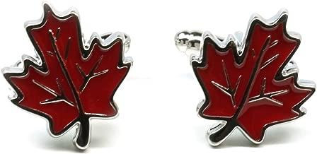 Teri's Boutique Canda Canadian Maple Leaf Men's Fashion Cufflinks w/ Free Gift Box