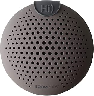 Boompods SCLGRY SoundClip Waterproof Bluetooth Speaker, IPX6 Amazon Alexa Integrated - Grey (Pack of 1)
