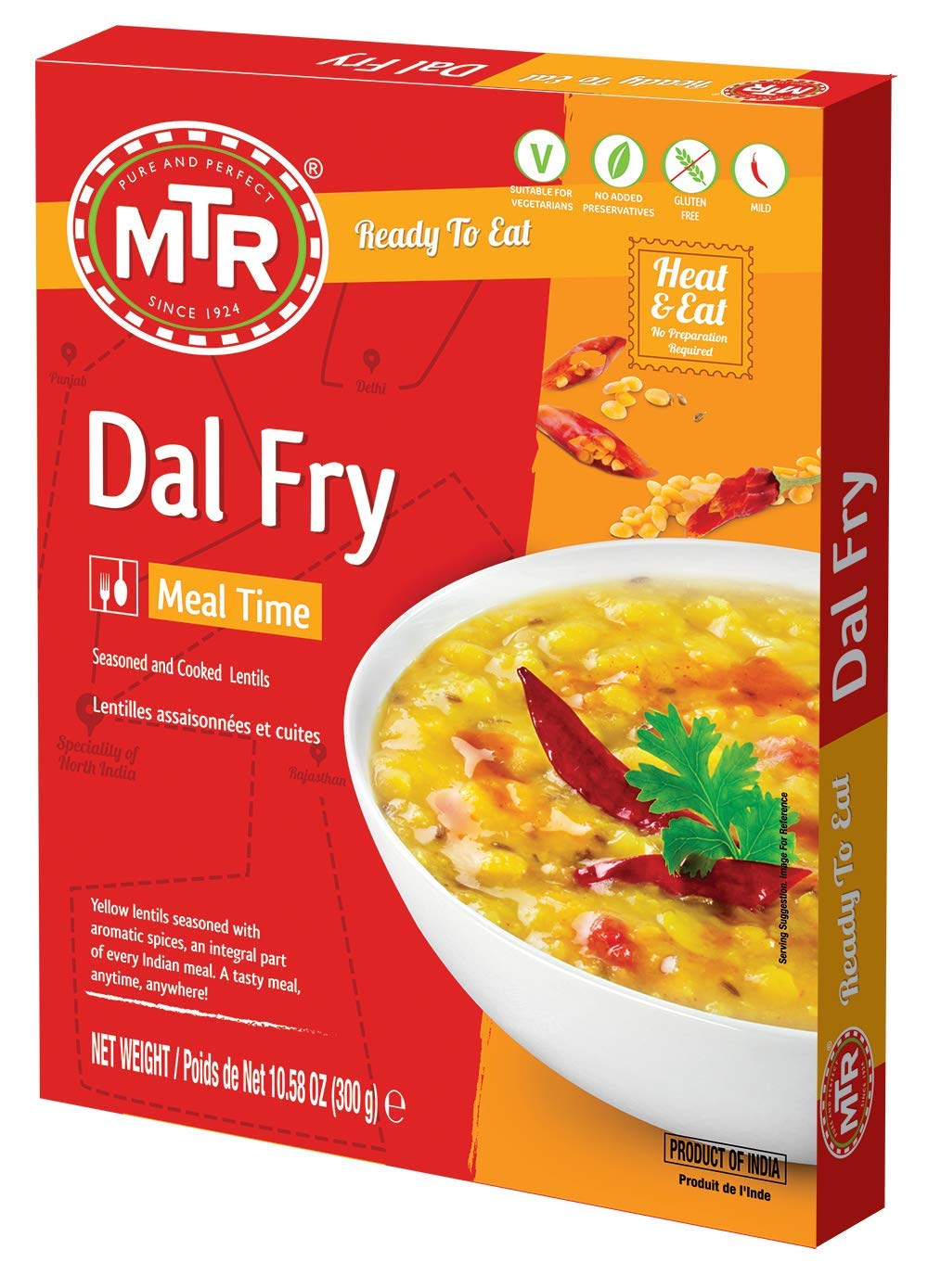 MTR Ready to Eat Dal Fry Lentil Sale SALE% OFF Curry OFFer Seasoned o Pack Yellow