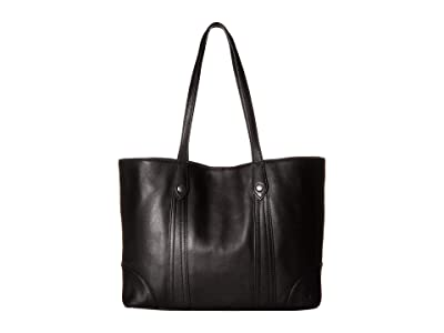 Frye Melissa Shopper (Black Smooth Full Grain) Hobo Handbags