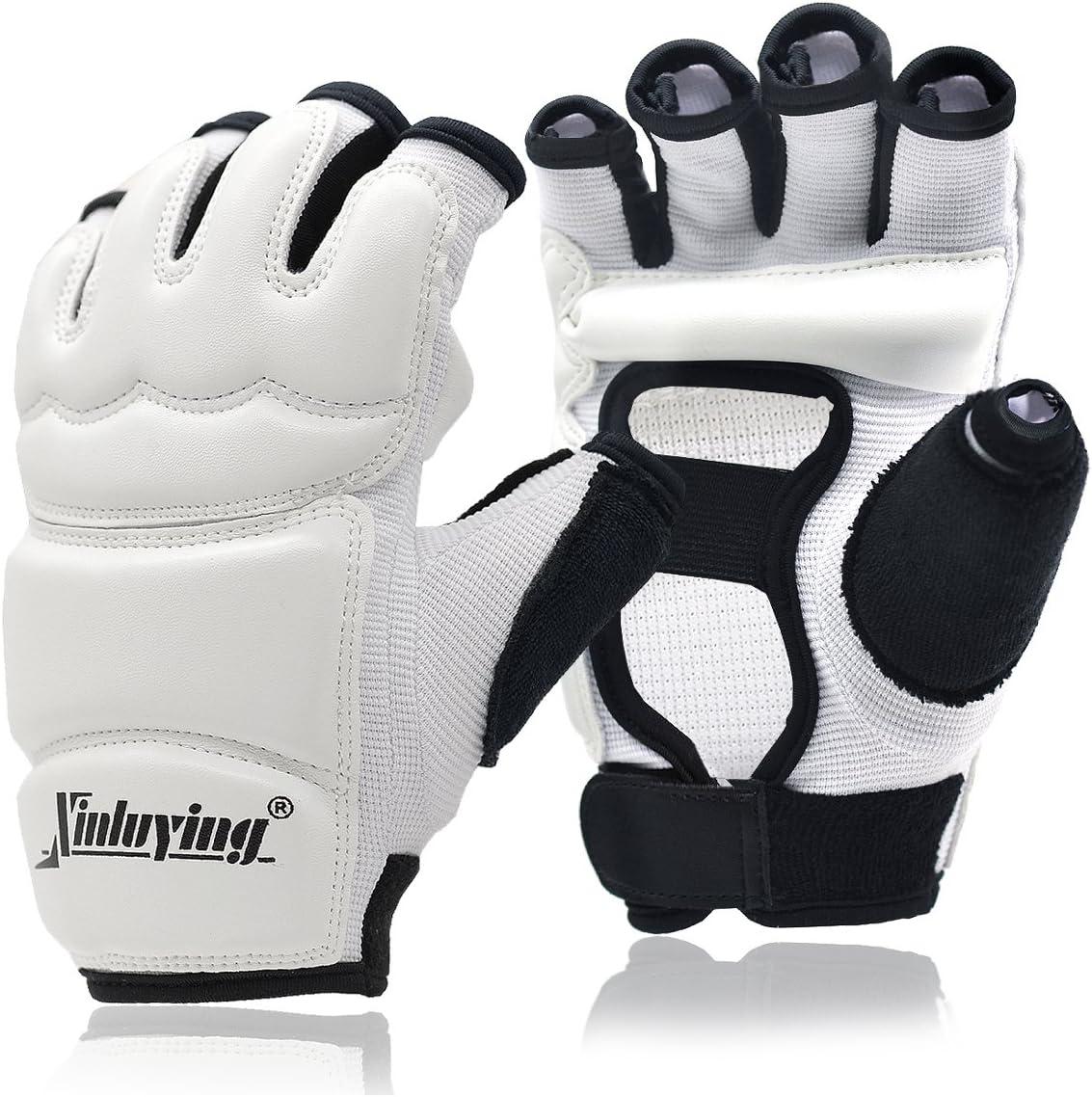 Xinluying Punch Bag Taekwondo Karate Gloves for Sparring Martial Arts Boxing Training Fingerless Women Kids : Sports & Outdoors