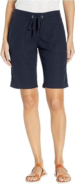 "11"" Bermuda Shorts White Knit Waistband"