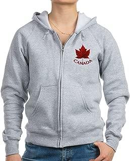CafePress - Women's Canada Souvenir Zip Hoodies/Jacket - Womens Zip Hoodie, Classic Hooded Sweatshirt with Metal Zipper