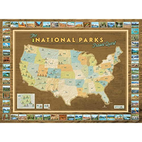 US National Parks Map: Amazon.com