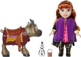 Frozen 2- Disney Muñeca Princesa Anna con Figuras de Olaf y