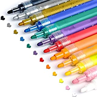 Eocean Canetas de tinta acrílica para pintura de pedras, cerâmica, vidro, madeira, tecido, tela, canecas, materiais de art...