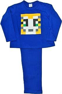 Boys Girls Stampylongnose Pajamas Long Pixel Stampy PJS Blue