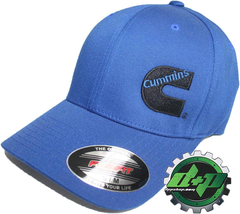 Diesel Power Plus Dodge Cummins Offset Logo Solid bluee Ball Cap Hat Flexfit Fitted bluee S M
