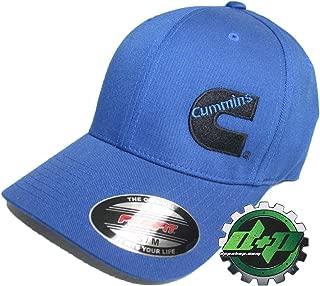 Diesel Power Plus Dodge Cummins Offset Logo Solid Blue Ball Cap hat Flexfit Fitted Blue s/m