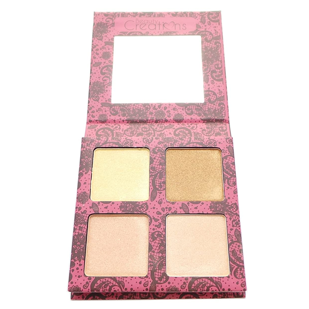 助手どれかイデオロギー(6 Pack) BEAUTY CREATIONS Scandalous Glow Highlight Palette (並行輸入品)