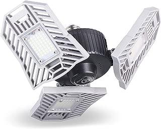 ELIVERN LED Garage Lights,Daylight LED Light Bulbs, Deformable Garage Ceiling Lights 60W6000 Lumens, E26 LED Bulb, Led Shop Lights for Garage, LED Garage Lighting for Workshop Basement Warehouse