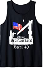 Union Ironworkers Local 40 American Flag NY Tank Top