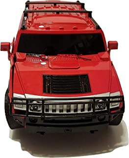Remote Control Car Shape-Shifting Action Figure Robot Toy with One Button Transformation (Red)