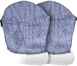 Tris&Ton Manoplas impermeables invierno silla de paseo, guantes prueba de viento forro polar para carrito carro cochecito (Tris y Ton) (STREET AZUL)