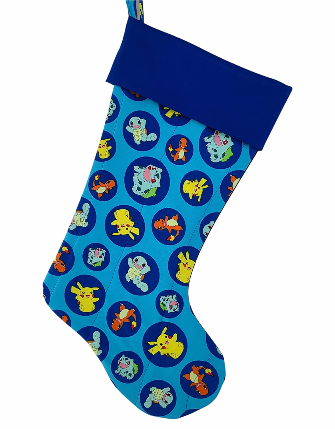 Cartoon Pikachu And Friends Indefinitely On Blue Max 44% OFF Stocking Quilted Christmas