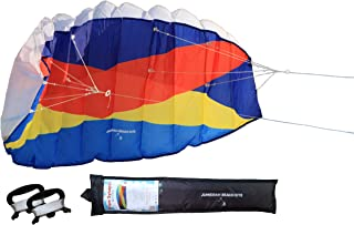 Dual-Line Parafoil Paraglider Kite Outdoor Flying 1.4m Beginner-to-Intermediate Prism Synapse String Line & 2 Handles Wind...
