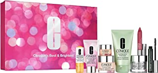 8 Piece Set Best & Brightest Holiday Gift Collection By CliniqueCosmetics(Hydrating Jelly, Eye Cream, Moisturizer, Soap, Hydrator,Booster, Mascara, Lipstick), 8-PC Set