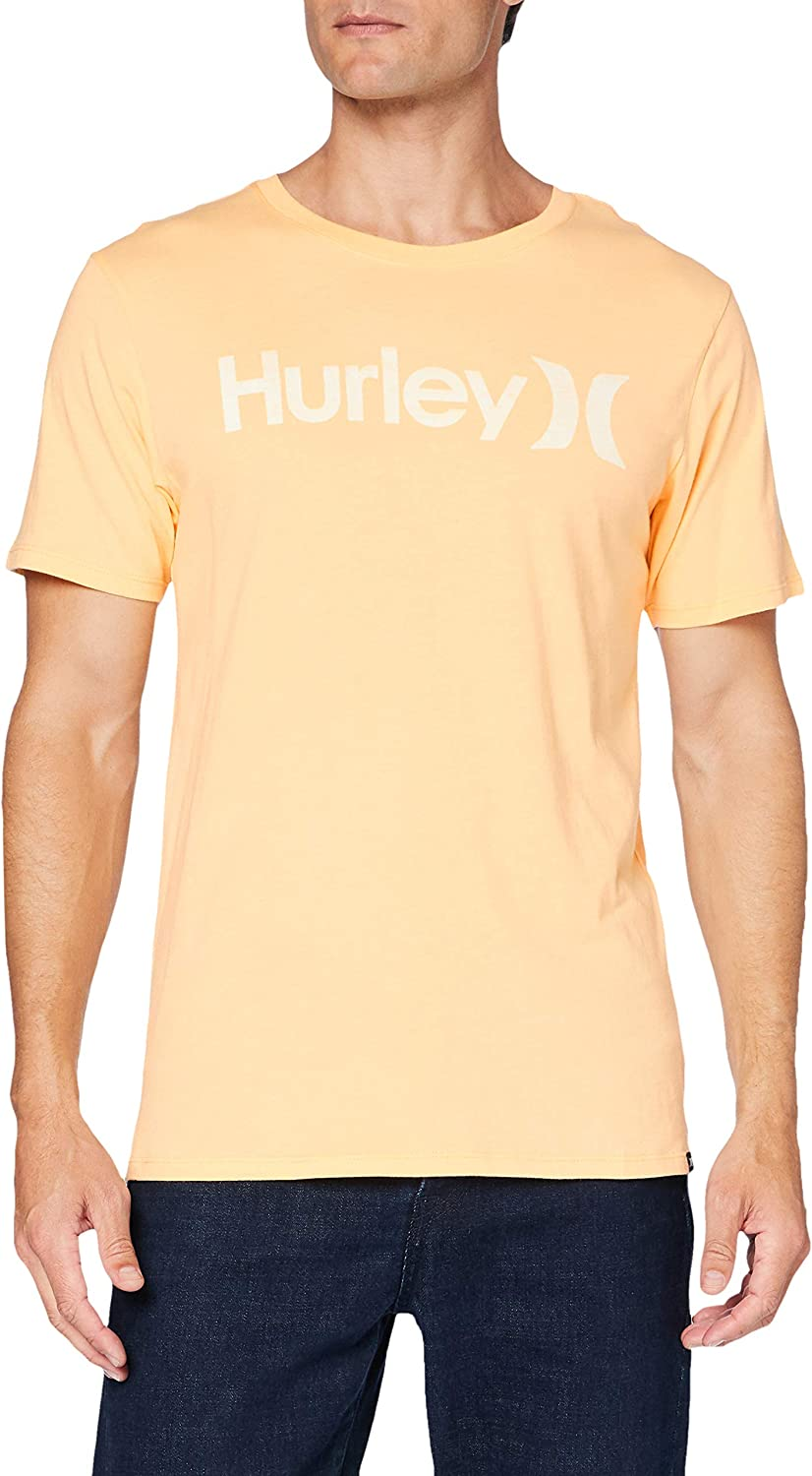 Hurley Men's One and Only Through Sleeve T-Shirt Short Be super welcome Push Special sale item