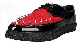 Desklets Men's Fashionable Rivets Leather Lace-up Casual Shoes