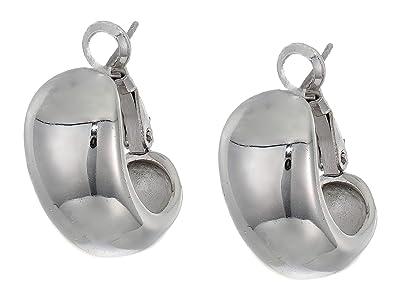 Vince Camuto Domed Huggies Earrings (Rhodium) Earring