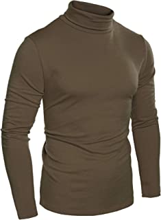 Mens Slim Fit Basic Thermal Turtleneck T Shirts Casual Knitted Pullover Sweaters