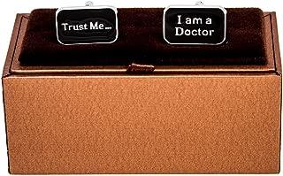 Trust me I am a Doctor Pair Cufflinks in a Presentation Gift Box & Polishing Cloth