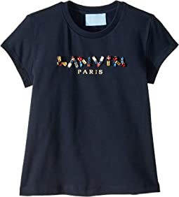 Short Sleeve Jewel Embellished Logo T-Shirt (Toddler/Little Kids)