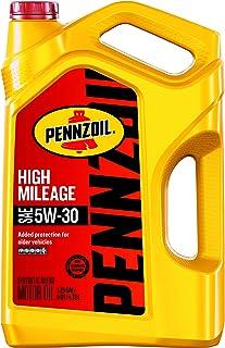 Pennzoil 550045218 5 quart 5W-30 High Mileage Motor Oil (SN jug)