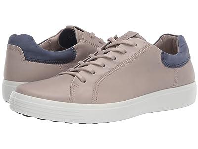 ECCO Soft 7 Street Sneaker (Moon Rock/Marine) Men